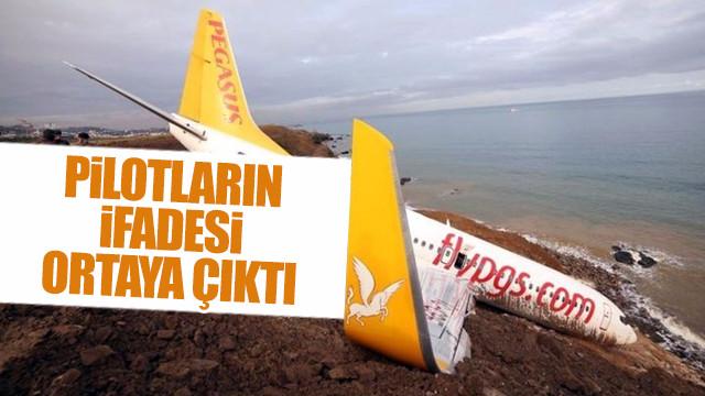 Pistten çıkan uçağın pilotunun ifadesi ortaya çıktı