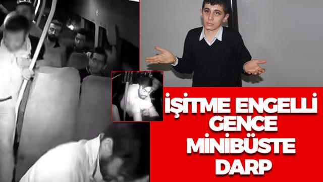 Adana'da işitme engelli Agit Acun adlı gencin dövülme anı güvenlik kamerasında!