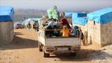 Suriye ordusu bayramda da vurdu! 124 bin sivil Türkiye sınırındaki kamplara sığındı