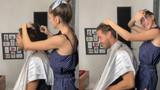 Şeyma Subaşı sevgilisinin saçlarını kesti