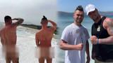 Bir çıplak turist vakası da Pamukkale'de!