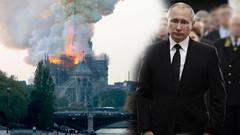 Putin yangını gözyaşlarıyla izlemiş