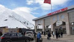 Sınırda hastane kurulmaya başlandı