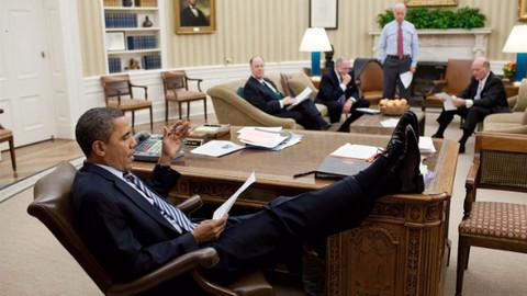 Obama kırmızı düğmeyi çay istemek için kullanıyordu
