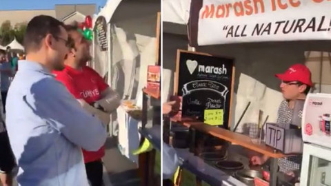 ABD'de FETÖ'cü dondurma satarken görüntülendi
