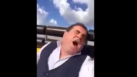 Lunaparkta hız trenine binen dayı gülme krizine soktu