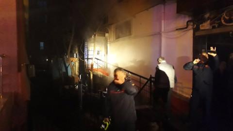 Kızılay'da kafe yangını