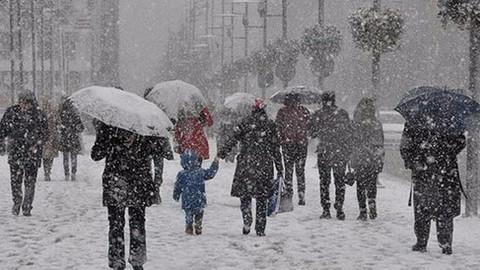 Meteoroloji'den 5 ile kuvvetli kar yağışı uyarısı