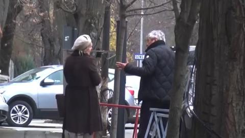 Lucescu eşiyle kavga ederken görüntülendi