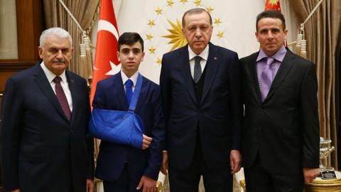 Cumhurbaşkanı Erdoğan, Cüneydi'yi kabul etti
