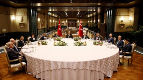 Cumhurbaşkanı Erdoğan, yasama, yürütme ve yargı organı temsilcileriyle görüştü