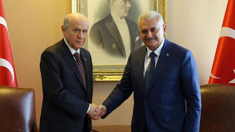 Başbakan Binali Yıldırım  ve MHP Lideri Devlet Bahçeli bu akşam görüşecek