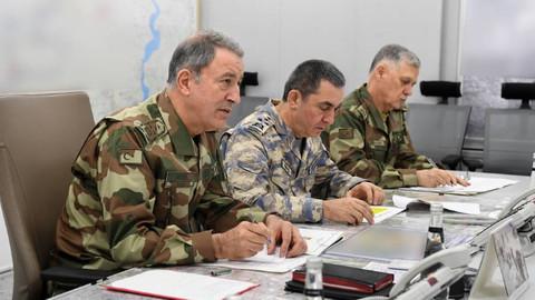 Afrin harekatının komuta merkezinden ilk fotoğraflar paylaşıldı