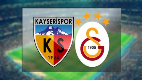 Kayserispor-Galatasaray saat kaçta? Hangi kanalda?
