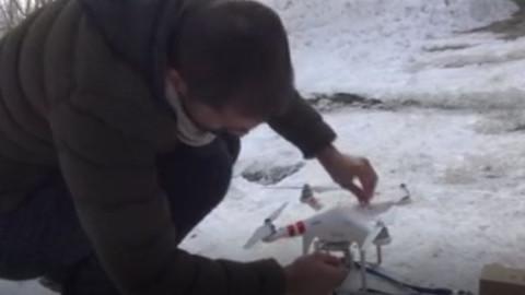 Çekmeyen telefona Drone'lu çözüm