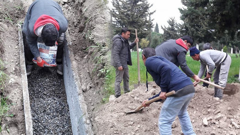 Ateist babasının mezarına beton döktü
