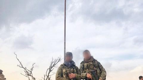 8 askerin şehit düştüğü yere Türk bayrağı asıldı