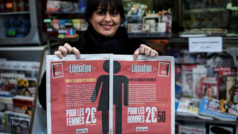 Fransız gazetesinden kadınlar günü kampanyası