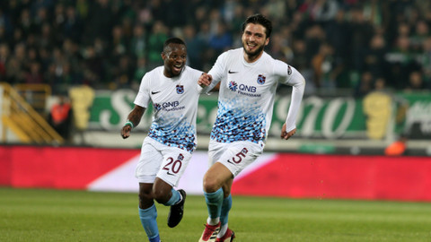 Trabzonspor deplasmanda Akhisarspor'u 3-1 mağlup etti