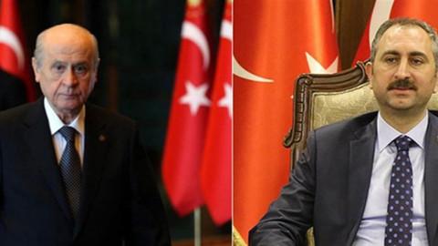 Adalet Bakanı Gül, Devlet Bahçeli ile görüştü