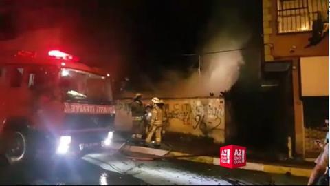 İstanbul Maslak'ta yangın