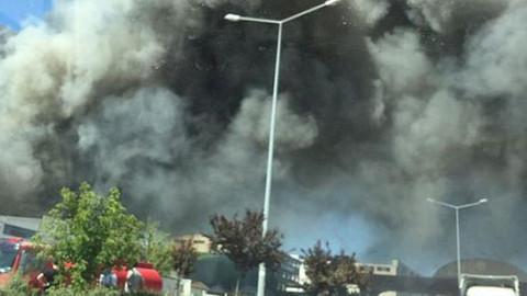 Ankara'daki Keresteciler Sitesi'nde yangın çıktı
