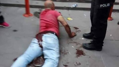 Ankara Demetevler'de kızını taciz eden sapığı sokak ortasında hadım etti olayının video görüntüleri