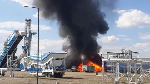 Gölbaşı'nda fabrikada yangın çıktı