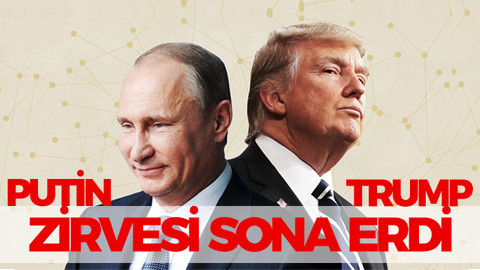 Helsinki'de Putin-Trump zirvesi sona erdi