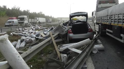 İstanbul'da TEM otoyolunu kaza: 1 yaralı