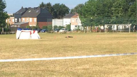 Belçika'da bir kişi stadyumda kendini patlattı