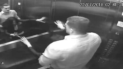 Karısına asansörde dehşeti yaşattı