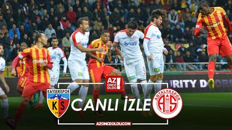 CANLI İZLE - Kayserispor Antalyaspor canlı izle - Kayserispor Antalyaspor şifresiz canlı izle