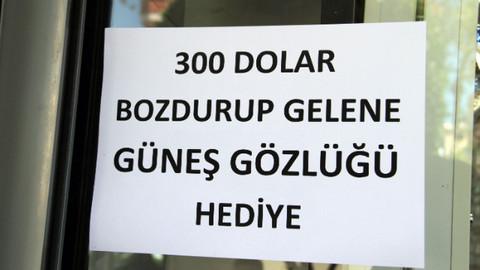 Alanya'da 300 dolar bozdurana güneş gözlüğü bedava