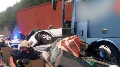 Bayram tatili yolunda zincirleme trafik kazası!