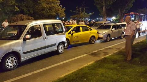 Tekirdağ'da zincirleme trafik kazası meydana geldi