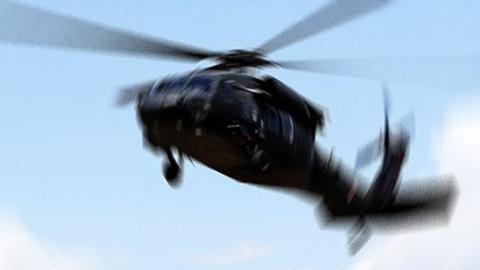 Sudan'da askeri helikopter düştü