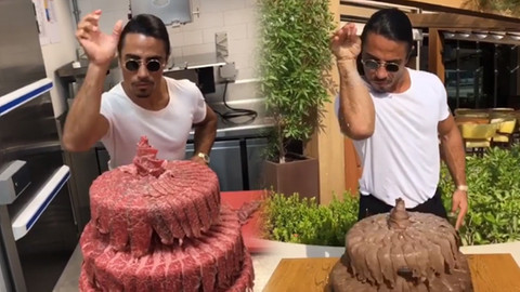 Nusret etten yapılmış düğün pastası yaptı!