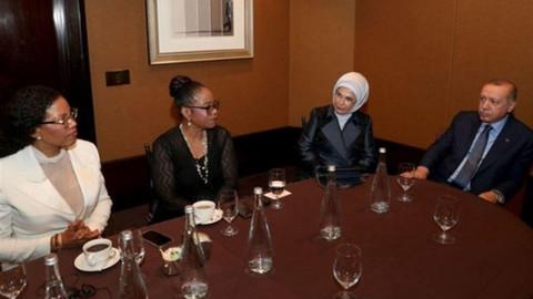 Cumhurbaşkanı Erdoğan, Malcolm X'in  kızları ile görüştü