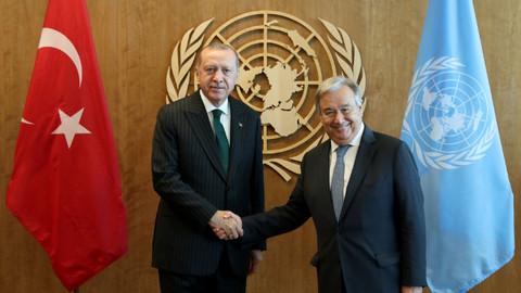 Az Önce! Cumhurbaşkanı Erdoğan'ın BM Genel Sekreteri Antonio Guterres ile görüşmesi sona erdi