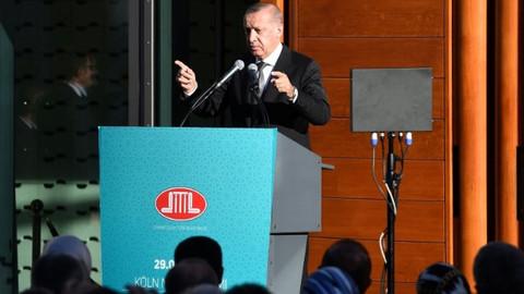Cumhurbaşkanı Erdoğan Köln'de cami açılışında konuştu