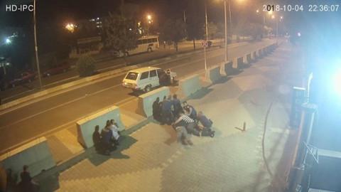 Karakol önündeki çatışma görüntüleri ortaya çıktı