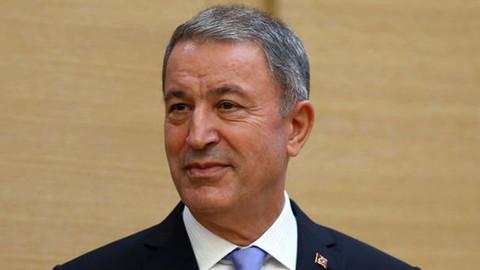 Bakan Akar: Kıbrıs'ta, Ege'de ve Doğu Akdeniz'de oldubittiye asla müsaade edilmeyecektir