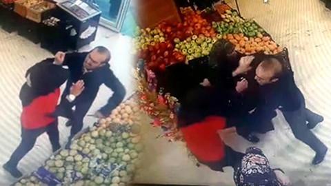 Markette herkesin önünde bıçakladı