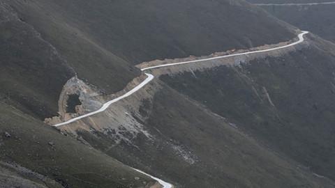 Yeşil yol çalışmaları havadan görüntülendi