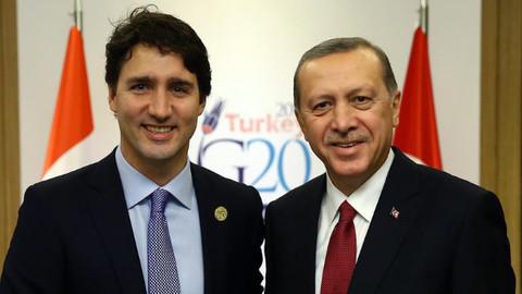 Cumhurbaşkanı Erdoğan, Kanada lideriyle görüştü