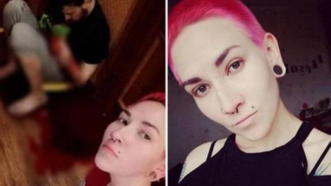 Eski kocasını bıçaklayıp selfie çekti