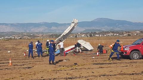 Az Önce! Antalya'da eğitim uçağı düştü: 2 ölü