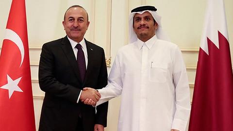 Dışişleri Bakanı Çavuşoğlu, Katarlı mevkidaşı ile görüştü