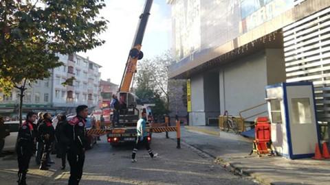 Lüleburgaz'da alışveriş merkezinde yangın çıktı